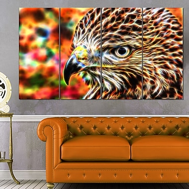 Vibrant Eagle Animal Metal Wall Art, 48x28, 4 Panels, (MT2353-271)