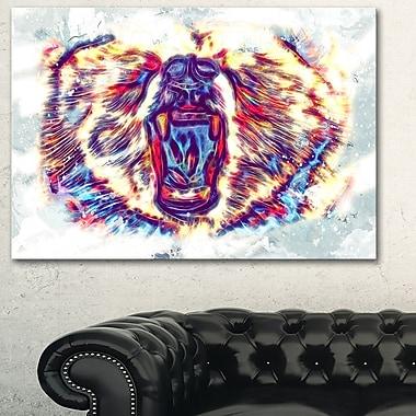 Art mural en métal à thème animal, ours téméraire, 28 x 12 (MT2355-28-12)