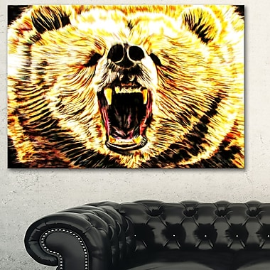 Brazen Bear Animal Metal Wall Art, 28x12, (MT2356-28-12)