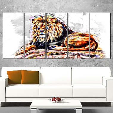 Caivating King Animal Metal Wall Art