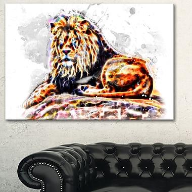 Illustration Le Roi des animaux, art mural en métal, 28 x 12, (MT2359-28-12)