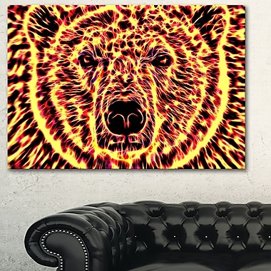 Psychedelic Bear Animal Metal Wall Art, 28x12, (MT2360-28-12)