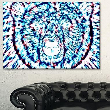 Art mural en métal, ours psychédélique, 28 x 12 (MT2361-28-12)