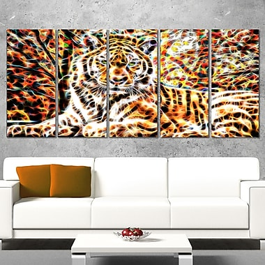 Tiger Pride Animal Metal Wall Art, 60x28, 5 Panels, (MT2404-401)
