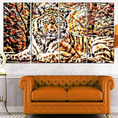Tiger Pride Animal Metal Wall Art, 48x28, 4 Panels, (MT2404-271)