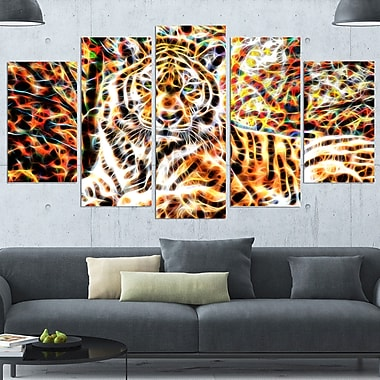 Tiger Pride Animal Metal Wall Art, 60x32, 5 Panels, (MT2404-373)