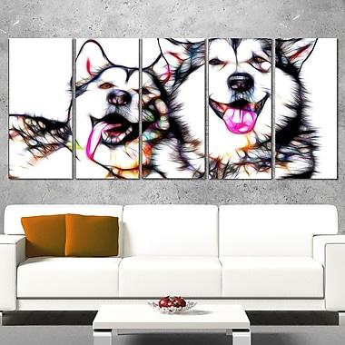 Husky Buddies Metal Wall Art, 60x28, 5 Panels, (MT2409-401)
