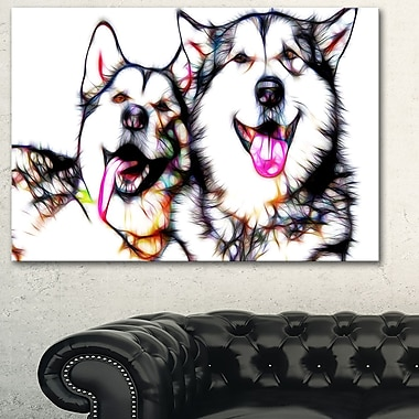 Husky Buddies Metal Wall Art, 28x12, (MT2409-28-12)