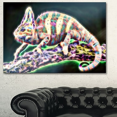 Vie de caméléon art mural en métal, 28 x 12 (MT2410-28-12)