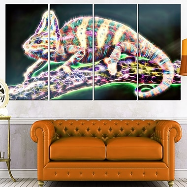 Chameleon Life Metal Wall Art, 48x28, 4 Panels, (MT2410-271)