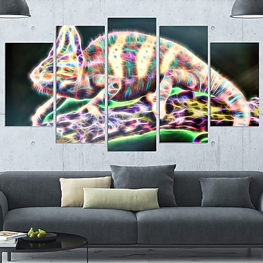 Chameleon Life Metal Wall Art, 60x32, 5 Panels, (MT2410-373)