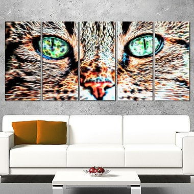 Windows to the Soul Cat Eyes Metal Wall Art, 60x28, 5 Panels, (MT2411-401)