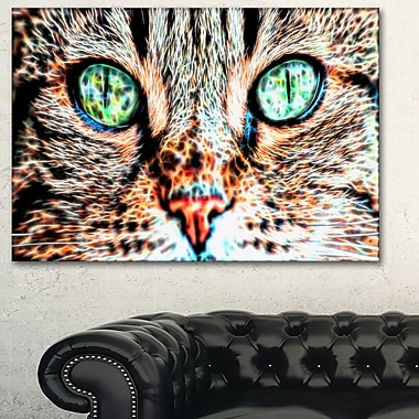 Windows to the Soul Cat Eyes Metal Wall Art, 28x12, (MT2411-28-12)