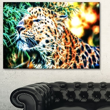Beautiful Cheeta Metal Wall Art, 28x12, (MT2415-28-12)