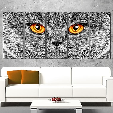 Grey Cat Metal Wall Art