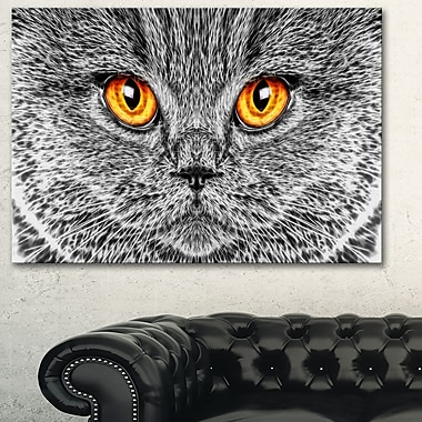 Grey Cat Metal Wall Art, 28x12, (MT2416-28-12)