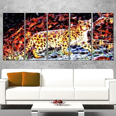 On the Prowl Cheetah Metal Wall Art, 60x28, 5 Panels, (MT2417-401)