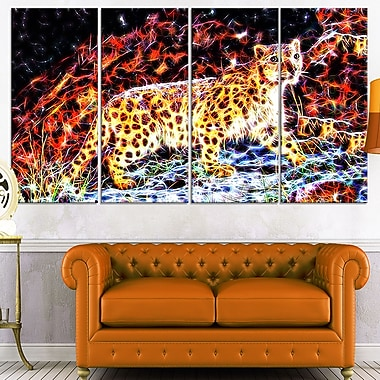 On the Prowl Cheetah Metal Wall Art, 48x28, 4 Panels, (MT2417-271)