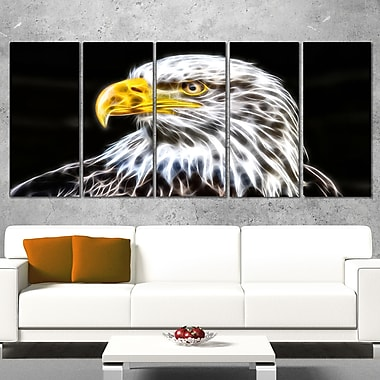 Bald Eagle Metal Wall Art, 60x28, 5 Panels, (MT2419-401)