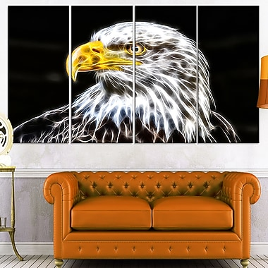 Bald Eagle Metal Wall Art, 48x28, 4 Panels, (MT2419-271)