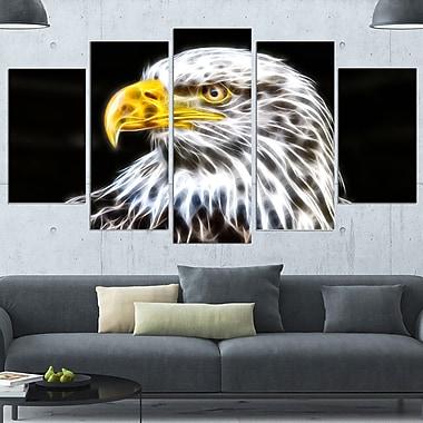 Bald Eagle Metal Wall Art, 60x32, 5 Panels, (MT2419-373)