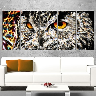 A Real Hoot Owl Metal Wall Art, 60x28, 5 Panels, (MT2420-401)
