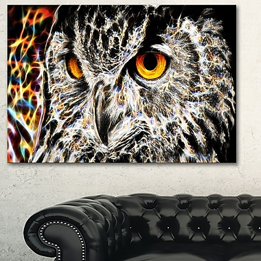 A Real Hoot Owl Metal Wall Art, 28x12, (MT2420-28-12)