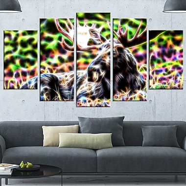 Abstract Moose Metal Wall Art