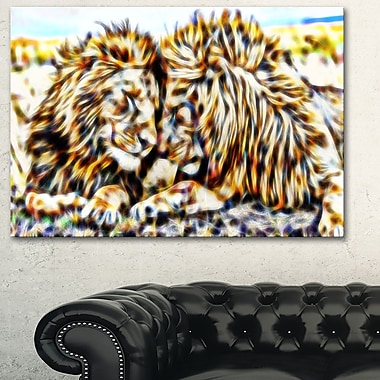 Soul Mates Lion Metal Wall Art, 28x12, (MT2422-28-12)