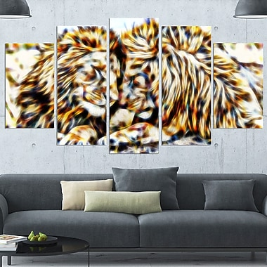 Soul Mates Lion Metal Wall Art, 60x32, 5 Panels, (MT2422-373)