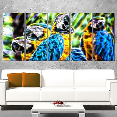 Parrot Art Metal Wall Art, 60x28, 5 Panels, (MT2423-401)