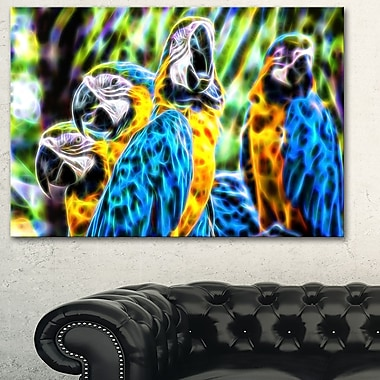 Parrot Art Metal Wall Art, 28x12, (MT2423-28-12)