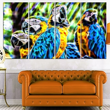 Parrot Art Metal Wall Art, 48x28, 4 Panels, (MT2423-271)