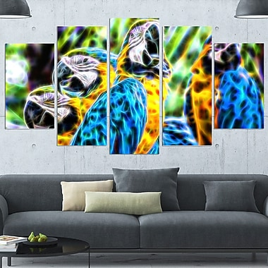 Parrot Art Metal Wall Art, 60x32, 5 Panels, (MT2423-373)