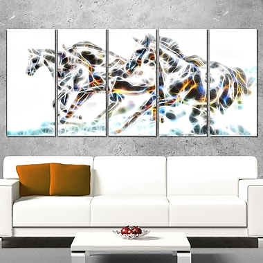 Wild Horses Metal Wall Art, 60x28, 5 Panels, (MT2425-401)