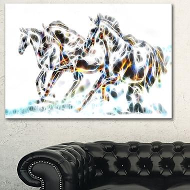 Wild Horses Metal Wall Art, 28x12, (MT2425-28-12)