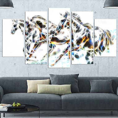Wild Horses Metal Wall Art, 60x32, 5 Panels, (MT2425-373)