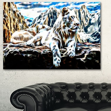 White Tiger Metal Wall Art, 28x12, (MT2426-28-12)