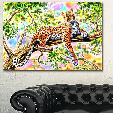 Watchful Cheeta Metal Wall Art, 28x12, (MT2428-28-12)