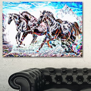 Stampede Horse Metal Wall Art, 28x12, (MT2429-28-12)