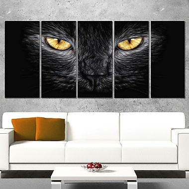 Black Cat Eyes Metal Wall Art, 60x28, 5 Panels, (MT2431-401)