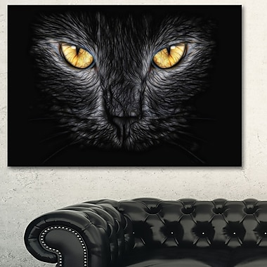 Black Cat Eyes Metal Wall Art, 28x12, (MT2431-28-12)