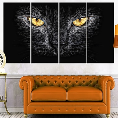 Black Cat Eyes Metal Wall Art, 48x28, 4 Panels, (MT2431-271)