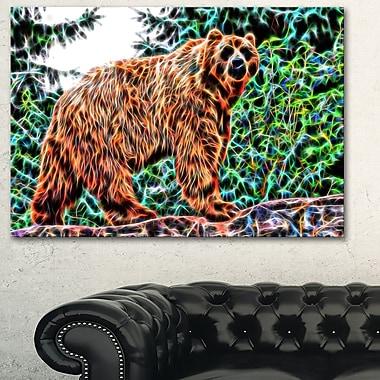 Ours brun art mural en métal, 28 x 12, (MT2434-28-12)