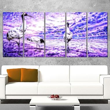 Storks Metal Wall Art, 60x28, 5 Panels, (MT2438-401)