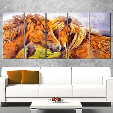Loving Horses Metal Wall Art