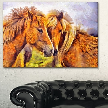 Loving Horses Metal Wall Art, 28x12, (MT2440-28-12)