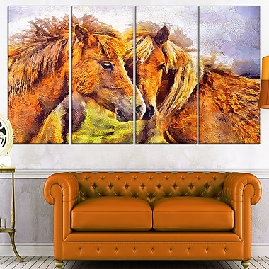 Loving Horses Metal Wall Art, 48x28, 4 Panels, (MT2440-271)