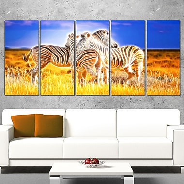 Zebra Duo on Metal Wall Art