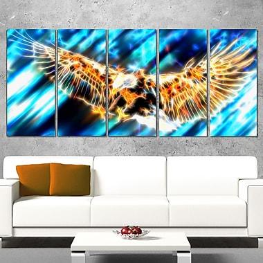 Aigle volant art mural en métal, 60 x 28, 5 panneaux (MT2445-401)